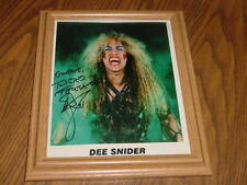 DEE SNIDER AUTOGRAPHED 8 X 10 TWISTED FOREVER