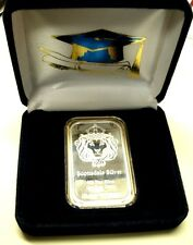 *Super Graduation Day Gift! 1 Troy oz .999 Fine Silver Lion Hd. From Sdmt Bar!