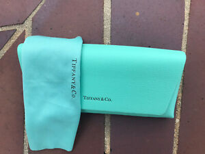 Authentic-Tiffany Eyeglass-Sunglass Leather Case With Cloth. Brand New.