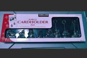 Kirkland's 8 Piece Set Christmas Decor Card Holders Place Cards Picture Holders