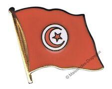 Pin's drapeau Tunisie tunisien badge 2x2cm doré