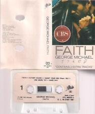 GEORGE MICHAEL WHAM    Faith  DIFFICULT SPANISH CASSETTE PAPER LABEL  SPAIN