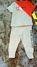 DIESEL Baby Boy's 2 Piece Top & Bottoms Set Age 2 Years Red/Grey. Designer BNWT