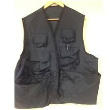 New Trophy Xl River Steelhead Salmon Fly Fishing Vest Black Multi Pocket 5417