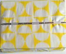 Queen Size Sheet Set Bedding 4 Pc 100% Cotton Deep Pocket T500 Yellow White