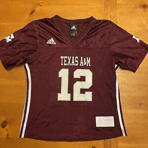 Texas A&M Aggies Adidas Football Jersey ~ #12 ~ Burgundy ~ Women's Size Small