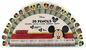40tlg Disney Mickey Mouse Children Colored Pencils Coloured Hb Eraser
