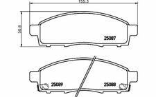 4x BREMBO Bremsbeläge vorne für NISSAN NV200 P 56 102 - Mister Auto Autoteile