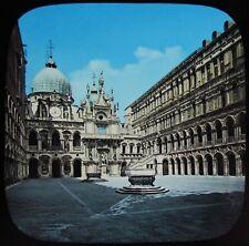 Glass Magic Lantern Slide VENICE PALACE OF THE DOGES C1890 OLD PHOTO ITALY