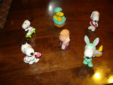 SNOOPY & FRENDS ~ LOT #15 ~ 6 SMALL FIGURES ~ EXCELLENT CONDITION ~  LQQK
