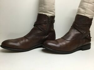 VTG MENS FRYE MOTORCYCLE BROWN BOOTS SIZE 11 D