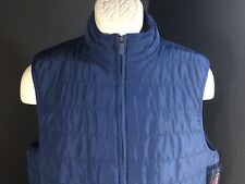 Chaps Mens Quilted Vest Size Large Color Rustic Navy Sleeveless Zipper Front NEW