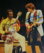 Chuck Berry & Keith Richards 2X Signed 8x10 Photo reprint