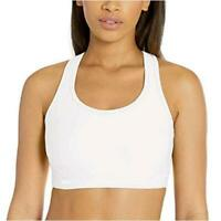 Essentials Women's Medium-Support Molded-Cup Sports, White, Size Large thF