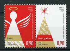 Bosnia & Herzegovina 2017 MNH Christmas & New Year 2v Set Angels Trees Stamps