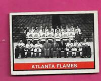 1974-75 OPC # 377 FLAMES  UNMARKED TEAM CHECKLIST VG+ CARD  (INV# D6716)