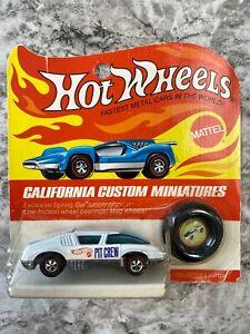Hot Wheels Redline Pit Crew Race Car White Blister Adult Collectors Toy Car