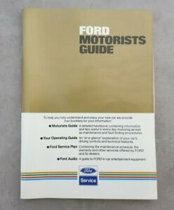 Ford Motorists Guide August 1982 (7th Edition)