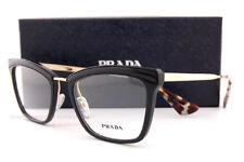 a320cb43124 Brand New Prada Eyeglasses Frames 15U 15UV KUI Black Gold SZ 52 Women