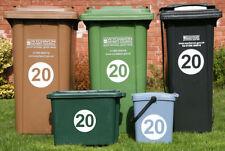 WHEELIE BIN HOUSE NUMBERS recycling rubbish wheely bin