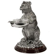 dish caviar silver glass elite vintage antique serving bowl plate Bohemian elite
