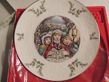 Royal Doulton - Christmas Plate 1981 in Box Carolers Bone China Vintage< 00004000 /a>