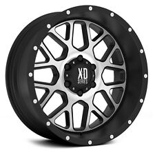 20 Inch Black Silver Wheels Rims Chevy 2500 3500 1500HD Dodge RAM Truck 20x12