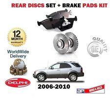 FOR KIA SORENTO 2.5DT 3.3 2006-2010 NEW REAR BRAKE DISCS SET + DISC PADS KIT