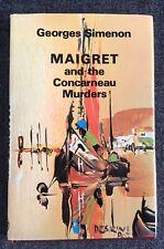 MAIGRET AND THE CONCARNEAU MURDERS. GEORGES SIMENON. Hardback.Thriller Book Club
