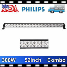 "52"" Inch 300W PHILIPS Led Light Bar Flood Spot Combo Driving 4X4 Jeep Track 240W"