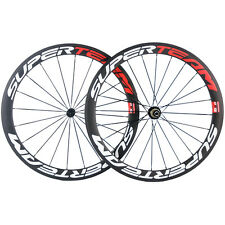 Carbon Road Wheels 50mm Clincher Carbon Wheelset R13 Hub Racing Wheel Set 3K