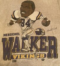 New listing Rare Vintage Screen Stars Herschel Walker Mn Vikings Caricature T-Shirt Mens L