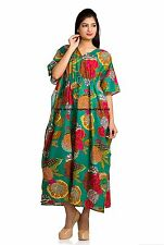 Women Boho Honeymoon Long Maxi Dress Beach Cover Up Tunic Kaftan Indian Caftan