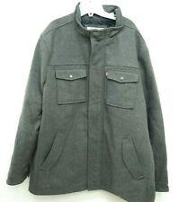 New Levi's Mens Zip/Button Up Gray Wool Peacoat Warm Winter Jacket Coat Size 2XL
