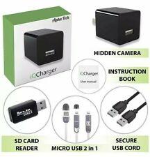 Camera Espia de Seguridad Cargador USB WiFi 1080P HD VIDEO ALARM PUSH RECORD