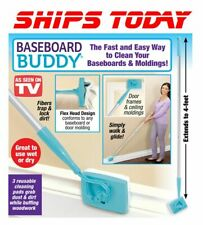 Baseboard Buddy Extendable Microfiber Dust Mop Cleaning Made Easier SHIPS TODAY