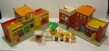 VTG 1973 Fisher Price Little People The Village 997 Playset – Incomplete