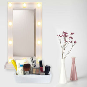 Hollywood White Cosmetic Make Up Mirror With 10 LED Warm White LED Light Bulb