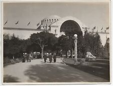Large 1915 Photo of Building & People at the PPIE World's Fair San Francisco CA