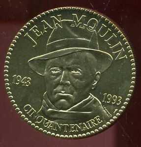 Médaille Cinquantenaire Conseil National De La Résistance Jean Moulin 1943-1993