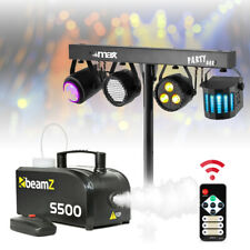 More details for dj party disco light partybar par derby lighting rail with stand & smoke machine