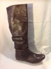 French Connection Brown Knee High Leather Boots Size 37