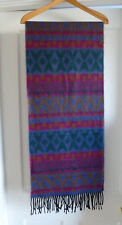 Ladies Lovely Soft Geometric Pattern Fringed Scarf Purple, Pink, Green, Brown