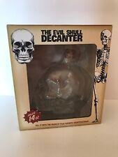 The Evil Skull Decanter Glass Liquor Bottle Bar Accessory Whiskey NEW in Box