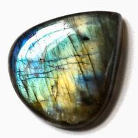 Cts. 23.50 Natural Spectrolite Labradorite Cabochon Heart Cab Loose Gemstones