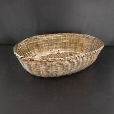 Panier ovale métal argent vintage BASKET made in China