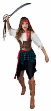 Ladies Pirate Costume Buccaneer Wench Fancy Dress Outfit New 10 12