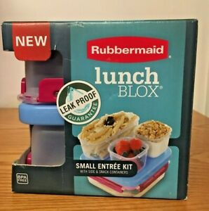 Rubbermaid LunchBlox Small Entree Kit Leak-Proof Lunch Container Beet Red NIB