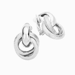 Titanium Titan ohrhänger aretes plegable creolen criollos plata fina señora 60 mm