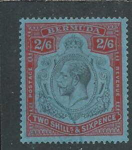 BERMUDA 1924-32 2s6d BLACK & CARMINE/PALE BLUE FU SG 89 CAT £100